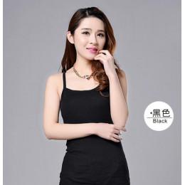 2019 gorąca sprzedaż Sexy Wonen lato topy pasek panie Camisole Bralette Clubwear bielizna bielizna 8 kolor