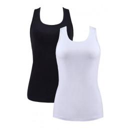 ATTRACO kobiet Camisole podstawowe Camis bawełniane miękkie solidnie wykonane topy zestaw 2 noc bielizna nocna odzież do jogging