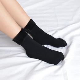 Zima Wamer kobiet zagęścić termiczna wełna kaszmirowe śnieg skarpetki bez szwu aksamitne buty podłogi skarpetki do spania dla mę