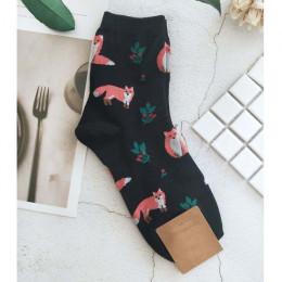 [EIOISAPRA] śliczne żakardowe/rośliny drukowanie wzór sztuki skarpetki damskie koreański zwierząt/kaktus skarpety śmieszne skarp