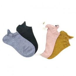 5 par/paczka Kawaii haftowane wyrażenie kobiety skarpetki szczęśliwy moda kostki śmieszne skarpetki kobiety bawełna lato cukierk