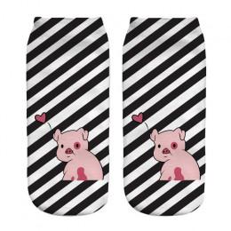 2018 nowy 3D drukowane różowy Pigling dla zwierząt domowych Mini świnia śmieszne śliczne bawełniane krótkie skarpetki do kostki