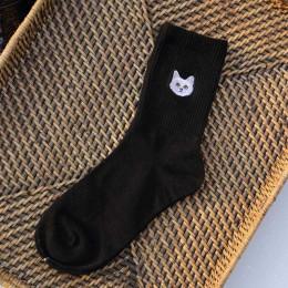 Ciepłe Harajuku słodkie hafty zwierząt śmieszne Skarpetki kobiety Kawaii japoński Skarpetki Skarpetki nowość bawełna Calcetines