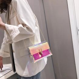 Kobiety torba na ramię moda Laser przezroczyste torby Crossbody Messenger plażowa torba na ramię 2019 nowy projekt torby na rami