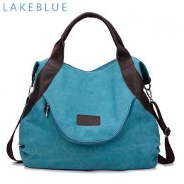 2019 Kvky marka duża kieszeń na co dzień torebka damska torebka torebki na ramię płótno skóra pojemność torby dla kobiet