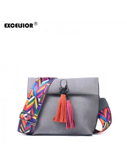 EXCELSIOR kobiet torba peeling PU Crossbody torby luksusowe