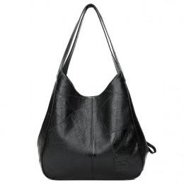 Elegancka skórzana duża torebka damska młodzieżowa na ramię pakowna modna klasyczna oryginalna