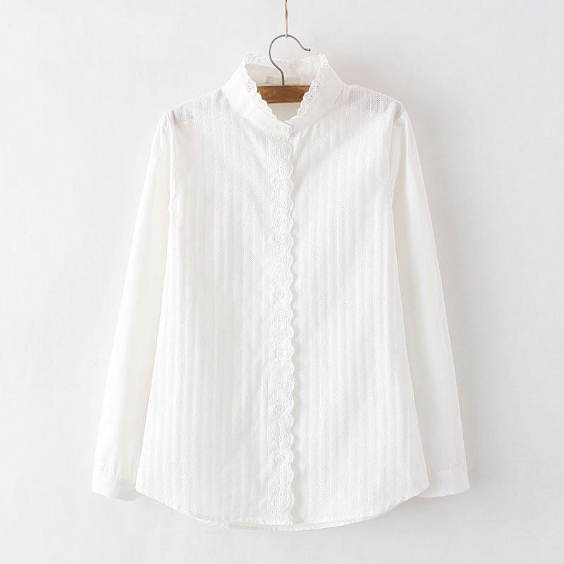 100% bawełna damska bluzka koszula biały lato bluzki koszule