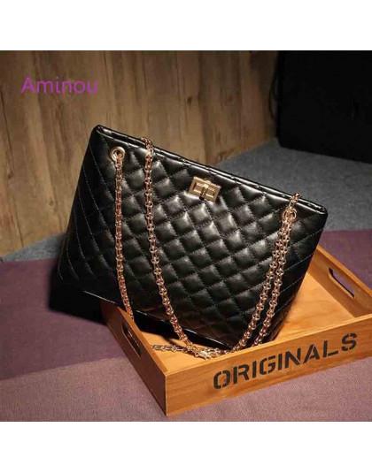 2019 luksusowa marka kobiety torba w szkocką kratę duże torby na ramię torebki damskie projektant czarna skóra duża torba Crossb