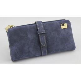 Znane marki długi torebka dwa razy kobiet portfele sznurek skóra nubukowa zamek zamszowe portfel damskie Carteira Feminina sprzę