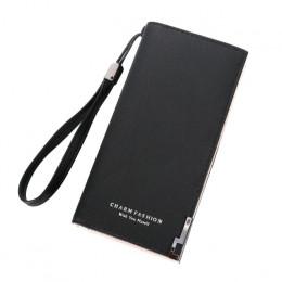 Kobiety portfele moda pani opaska torebki długa portmonetka zamek błyskawiczny portmonetka karty ID Holder sprzęgła damski portf