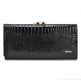 HH prawdziwej skóry kobiet portfel Alligator długo Hasp Zipper Wallet panie Clutch Bag torebka 2019 nowych kobiet luksusowe mone