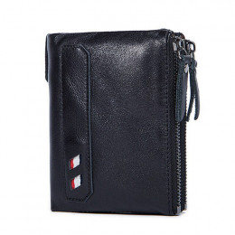 Hot!!! Prawdziwej skóry kobiet portfel portmonetki portmonetka kobiet mały Portomonee Bifold portfel RFID pani torebka dla dziew