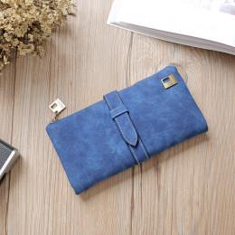 2019 solidna ściągacze skóra nubukowa zamek długi portfel damski torba na telefon luksusowe markowe portfele projektant torebka