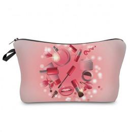 Deanfun kobiety kosmetyczne torby 3D z nadrukiem makijaż wzór nowa moda niezbędne dla organizator toaletowe 50952