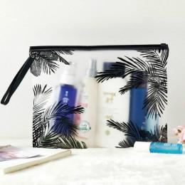 Moda kobiety przezroczyste kosmetyczki kosmetyczki z PCV organizator podróży niezbędne Beauty Case torba do makijażu produkt do