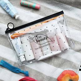 ETya podr&oacuteży kosmetyczne torby PVC wodoodporne przezroczyste kobiety przenośne makijaż torba kosmetyczka organizator torb