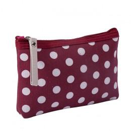Kobiety Plaid podróży kosmetyczka makijaż torba torebka kobiet zamek torebka małe kosmetyki makijaż torby podróżne kosmetyczny o