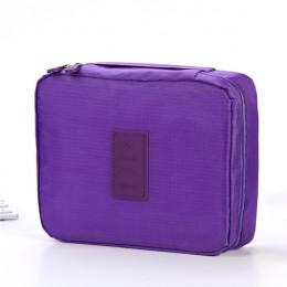 PURDORED 1 pc Unisex podróży makijaż torba jednolity kolor kosmetyczny torba podróżna kosmetyczka worek do prania kosmetyczka or