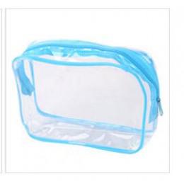 ETya podróży pcv torby kosmetyczne kobiety przezroczysty przezroczysty zamek torebki na makijaż organizator produkt do kąpieli m