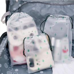 Kobiety przezroczyste sznurkiem kaktus kosmetyczka podróżna kosmetyczka na produkty do makijażu do makijażu do kąpieli organizat