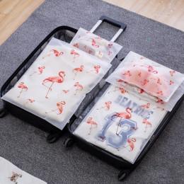 Przezroczysta kosmetyczka Flamingo podróżna kosmetyczka na produkty do makijażu kobiet zamek, co zrobić, jeśli do kąpieli organi