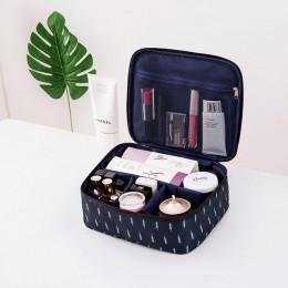 Kosmetyczka podróżna organizer markowy modny do przechowywania kosmetyków do makijażu duża pojemność