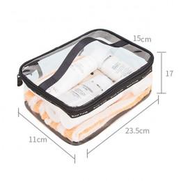Wodoodporny przezroczysty PVC do kąpieli kosmetyczka kobiety kuferek kosmetyczny podróży na zamek błyskawiczny makijaż Beauty Wa