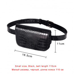 W stylu Vintage talii torba kobiety Alligator PU skórzane saszetka na pasek talii Pack podróży paski portfele Fanny torby damski