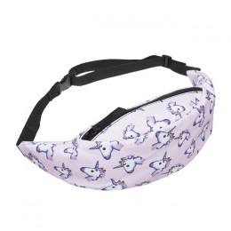 Jom Tokoy nowe kolorowe talii torba dla mężczyzn Fanny Pack styl saszetka na pasek jednorożec kobiet talii opakowanie ponad mili