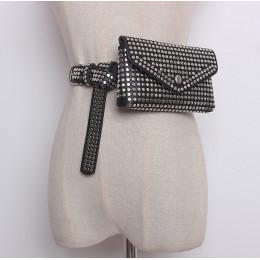DIINOVIVO modne nity talii opakowanie luksusowa projektanta Fanny Pack małe kobiety talii torba etui telefon Punk saszetka na pa