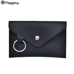 Moda nowych kobiet talii opakowanie Femal saszetka na pasek telefon torby z zapięciem marka projekt kobiety kopertówka dla pań d