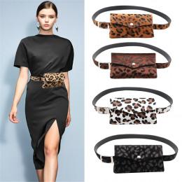 Sleeper 401 2018 сумка на пояс kobiety Leopard włosia końskiego ozdobne kieszenie podwójnego zastosowania torba na telefon komó