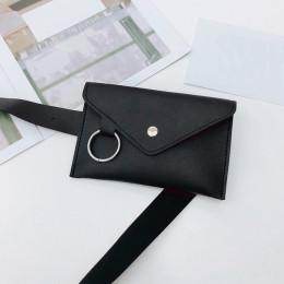 2018 moda kobiety czysty kolor pierścień skóry talii torba na co dzień kobiety Messenger torba na ramię torba w klatce piersiowe