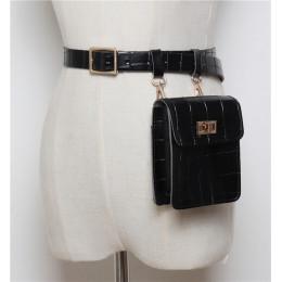 Mihaivina w stylu Vintage skóra talii torba Alligator Fanny Pack dla kobiet talii opakowanie luksusowy pasek torba projektant/cz