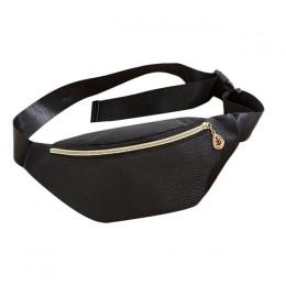 2018 moda skórzane pasy talii kobiet srebrny mochila cintura talia saszetka do paska torba kobiet etui PU dorywczo Fanny plecak