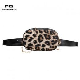 Wąż wzór na ramię łańcucha talii torby Fanny pas pakuje telefon etui kobiety PU Leather Crossbody na co dzień Messenger torby w