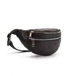 CROWDALE torba w klatce piersiowej dla kobiet o dużej pojemności moda talii pakuje regulowany pasek torba na zamek błyskawiczny