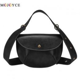 Skórzana elegancka torebka damska na pasku mała pakowna czarna brązowa na klapę ze złotym guzikiem