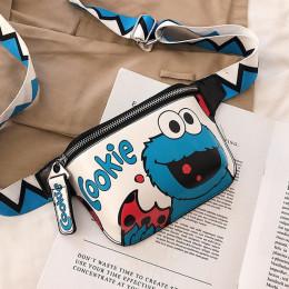 Kobiety saszetka na pasek Cartoon talii torby wygodny Banana Fanny Pack pas dla dzieci Cookie Elmo Monster dziewczyna Hip nerka