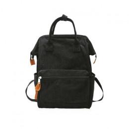 2019 sztruks kobiety plecaki szkolne torby dla nastolatków dziewczyny Mochila większa pojemność na co dzień plecaki podróżne kob
