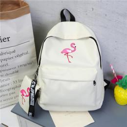 Plecaki marka kobiety proste Flamingo drukowanie plecak dla nastoletnich dziewcząt laptopa torby szkolne Mochila 2019