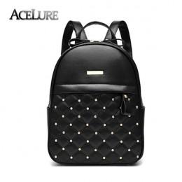 ACELURE plecak dla kobiet gorąca sprzedaż moda na co dzień torby wysokiej jakości koralik kobiet torba na ramię PU skórzane plec
