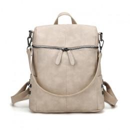 Herald mody kobiet plecak jakości skóra szkoła torby dla nastolatków dziewczyny duża szkoła plecak w stylu Vintage, stałe torby