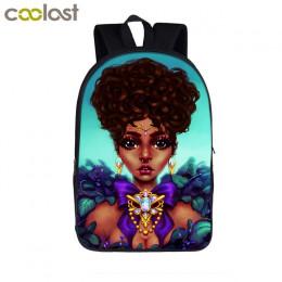 Afro Lady dziewczyna plecak afryka piękno księżniczka dziewczyny dzieci torby szkolne dla nastolatek brązowy dziewczyna w szkole
