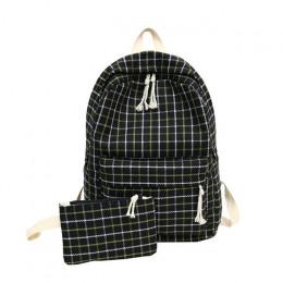 Moda kobiety plecak uczeń dziewczyna torba szkolna nowa torba podróżna w stylu Plaid torba na ramię dla kobiet 2019 plecak pleca