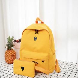 Księżyc drewna wysokiej jakości płótnie drukowane serca żółty plecak koreański styl torba podróżna dla studentów dziewczyny torb