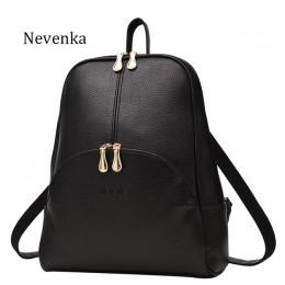 Nevenka kobiety plecak plecaki skórzane torby marką miękka torba torba w stylu Preppy plecaki do użytku codziennego młodzieży pl