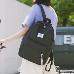 Klasyczny duży plecak młodzieżowy damski szkolny pakowny turystyczny miejski ładny czarny różowy szary niebieski