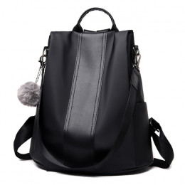 Wodoodporny plecak szkolny dla nastolatków młodzieżowy dla kobiet dziewczęcy uniwersalny czarny beżowy brązowy